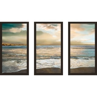 """""""Nuance"""" by Mike Calascibetta Print on Acrylic Set of 3 - Blue"""