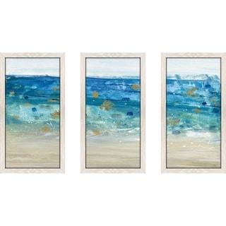 """Sea Glass Summer II"" by Susan Jill Print on Acrylic Set of 3 - Blue"