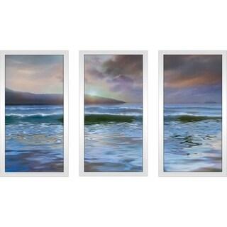 """Western Light"" by Mike Calascibetta Print on Acrylic Set of 3 - Blue"