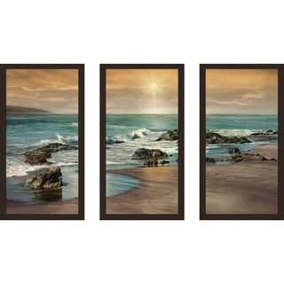 """Near Dusk"" by Mike Calascibetta Print on Acrylic Set of 3 - Blue"