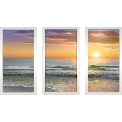 """Dawn Rays"" by Mike Calascibetta Print on Acrylic Set of 3 - Orange"