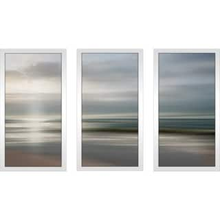 """Setting Sun"" by Mike Calascibetta Print on Acrylic Set of 3 - Blue"