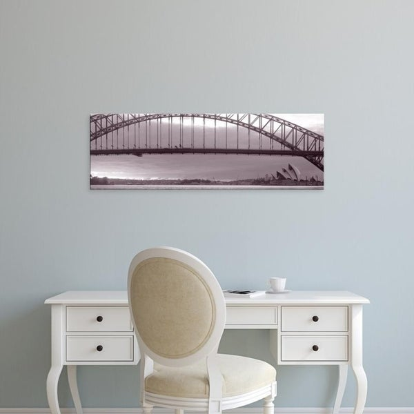 Easy Art Prints Panoramic Images's 'Harbor Bridge, Pacific Ocean, Sydney, Australia' Premium Canvas Art