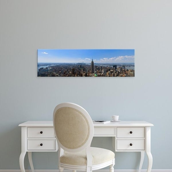 Easy Art Prints Panoramic Images's 'Elevated view of cityscape, Empire State Building, Manhattan, New York City' Canvas Art