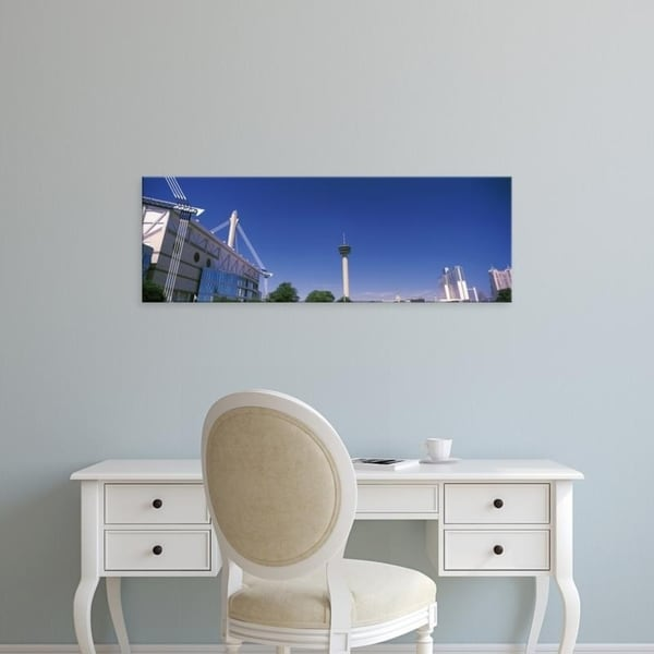 Easy Art Prints Panoramic Images's 'Buildings in a city, Alamodome, Tower of the Americas, San Antonio, Texas' Canvas Art