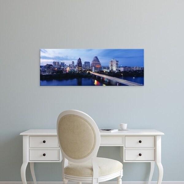 Easy Art Prints Panoramic Images's 'Night, Austin, Texas, USA' Premium Canvas Art