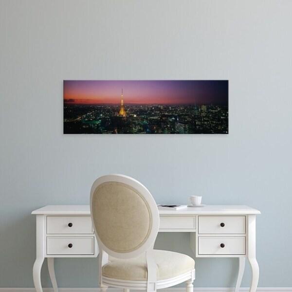 Easy Art Prints Panoramic Images's 'Japan, Tokyo' Premium Canvas Art