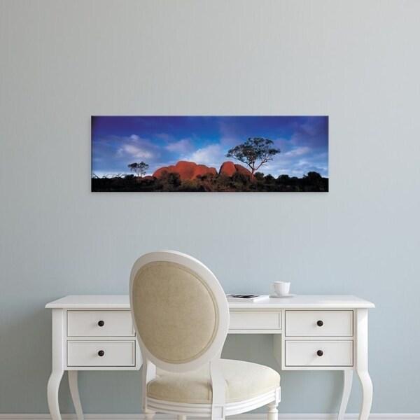 Easy Art Prints Panoramic Images's 'Sandstone, Olgas, Uluru-Kata Tjuta National Park, Northern Territory, Australia' Canvas Art