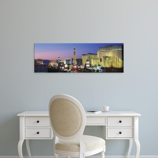 Easy Art Prints Panoramic Images's 'The Strip dusk Las Vegas NV USA' Premium Canvas Art