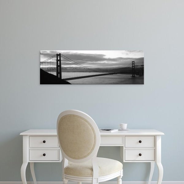 Easy Art Prints Panoramic Images's 'Suspension bridge at dusk, Golden Gate Bridge, San Francisco, California' Canvas Art