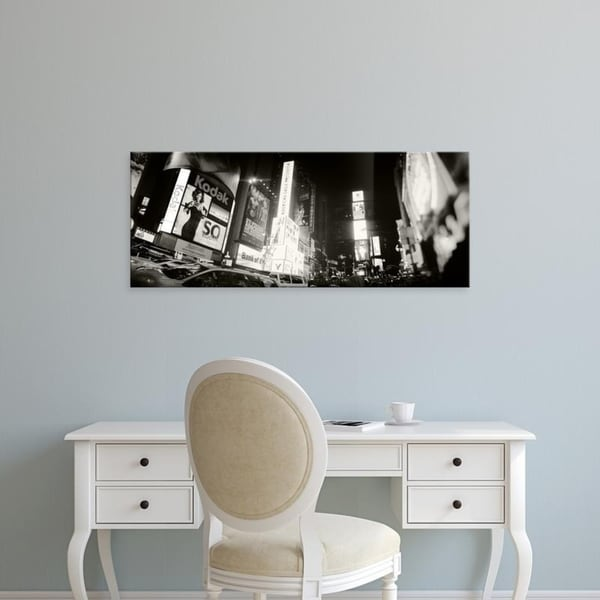 Easy Art Prints Panoramic Images's 'Buildings lit up at night, Times Square, Manhattan, New York City, New York' Canvas Art