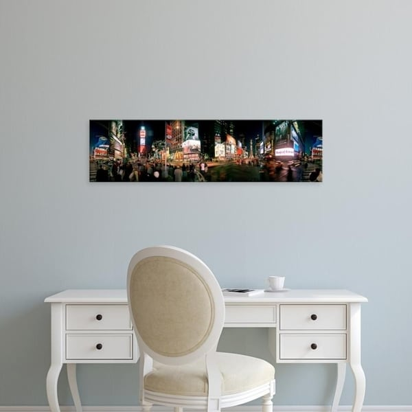 Easy Art Prints Panoramic Images's '360 degree view of buildings, Times Square, Manhattan, New York City, New York' Canvas Art