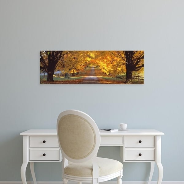 Easy Art Prints Panoramic Images's 'Road, Baltimore County, Maryland, USA' Premium Canvas Art