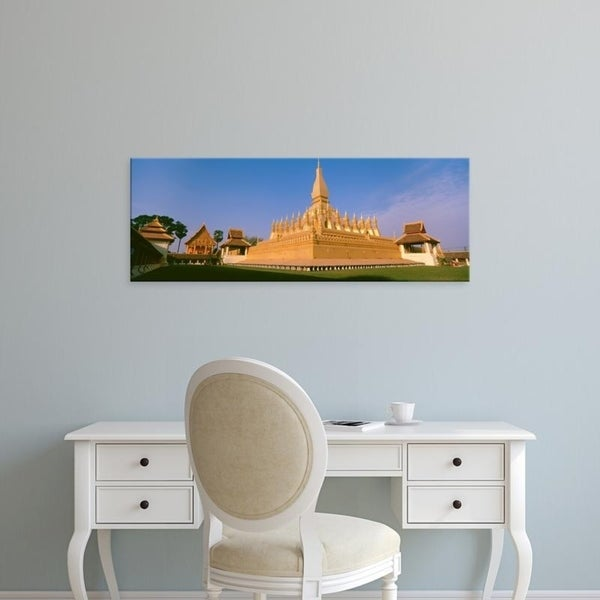 Easy Art Prints Panoramic Images's 'Pha That Luang Temple, Vientiane, Laos' Premium Canvas Art