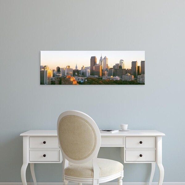 Easy Art Prints Panoramic Images's 'Philadelphia, Pennsylvania, USA' Premium Canvas Art