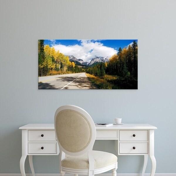 Easy Art Prints Panoramic Images's 'Road passing, Yoho National Park, Alberta, British Columbia, Canada' Canvas Art