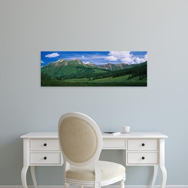 Easy Art Prints Panoramic Images's 'Clouds over a mountains, Mt. Bellview, White River National Forest, Colorado' Canvas Art