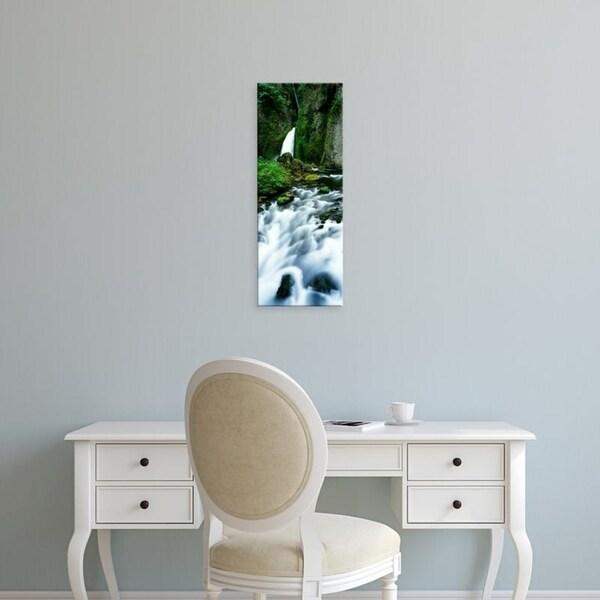Easy Art Prints Panoramic Images's 'Waterfall, Wahclella Falls, Columbia River Gorge, Oregon, USA' Premium Canvas Art