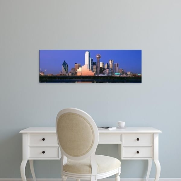 Easy Art Prints Panoramic Images's 'Night, Cityscape, Dallas, Texas, USA' Premium Canvas Art