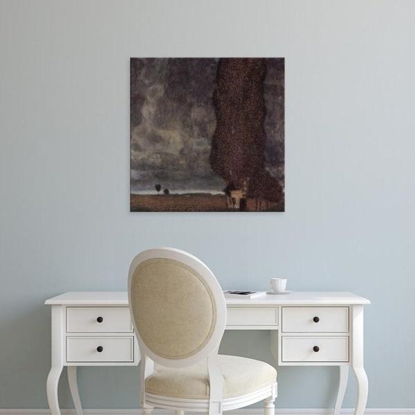 Easy Art Prints Gustav Klimt's 'The Big Poplar' Premium Canvas Art