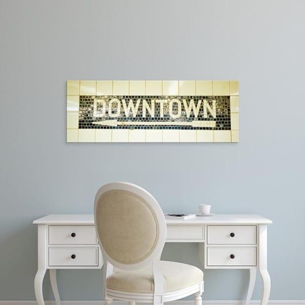 Easy Art Prints Panoramic Images's 'USA, New York City, subway sign' Premium Canvas Art