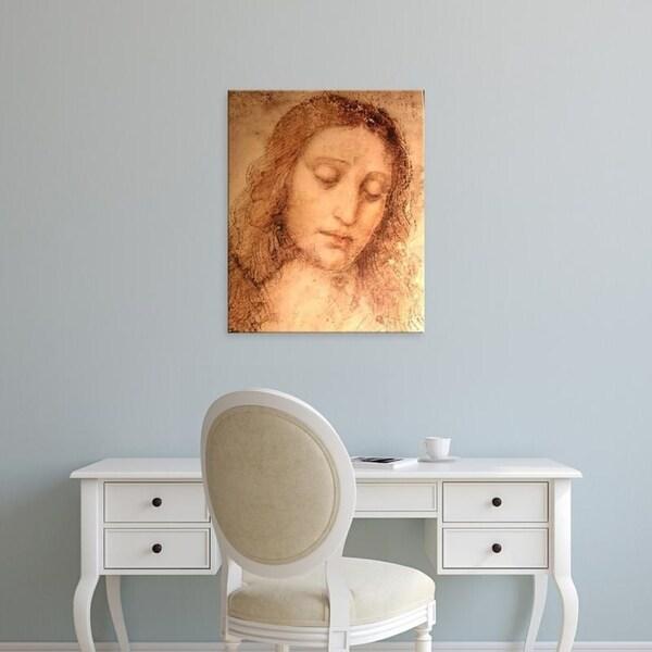 Easy Art Prints Leonardo da Vinci's 'Study of Christ for the Last Supper detail' Premium Canvas Art