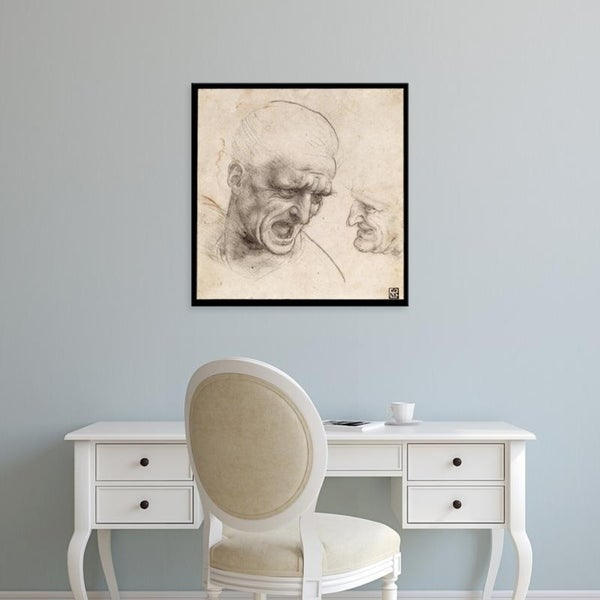 Easy Art Prints Leonardo da Vinci's 'Study of Two Warriors' Heads for the  Battle of Anghiari' Premium Canvas Art