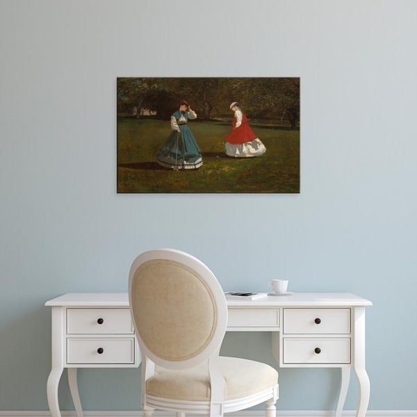Easy Art Prints Winslow Homer's 'A Game of Croquet' Premium Canvas Art