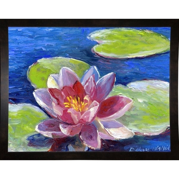 "Lily Pad Flowers-RICWAL17438 Print 10.25""x13.25"" by Richard Wallich"