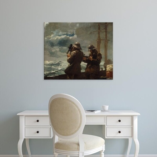 Easy Art Prints Winslow Homer's 'Eight Bells' Premium Canvas Art