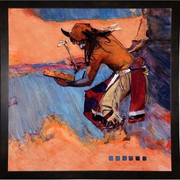 """The Drummer-J. KNA79056 Print 12""""x12"""" by J. E. Knauf"""