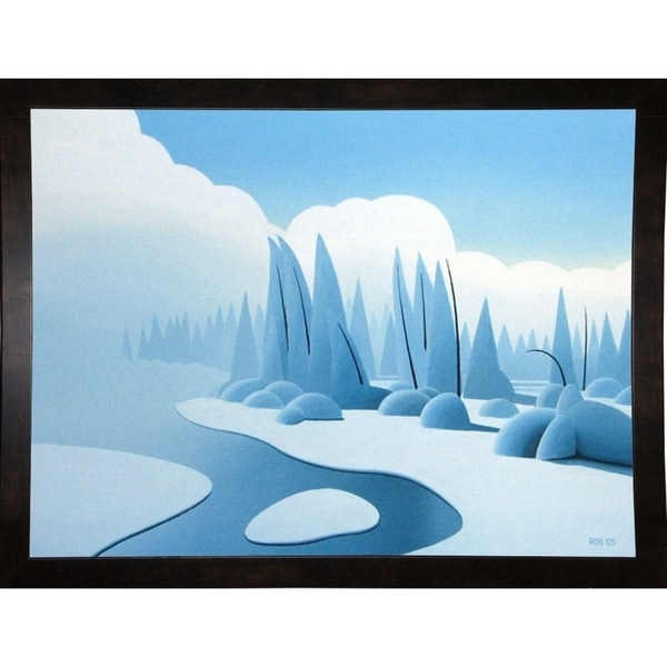 "Winter Mist-RONPAR71155 Print 6""x8"" by Ron Parker"