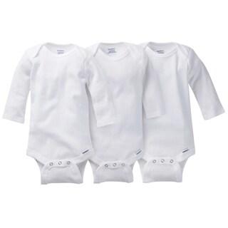 Gerber White Onesies Long Sleeve - 3 Pack - 0-3 Months