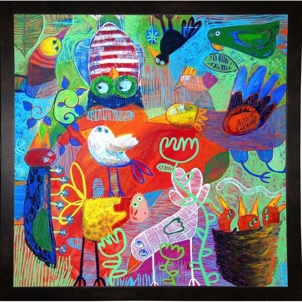 """Rainbow Jive I-SARCAT106686 Print 33.25""""x33.25"""" by Sara Catena"""