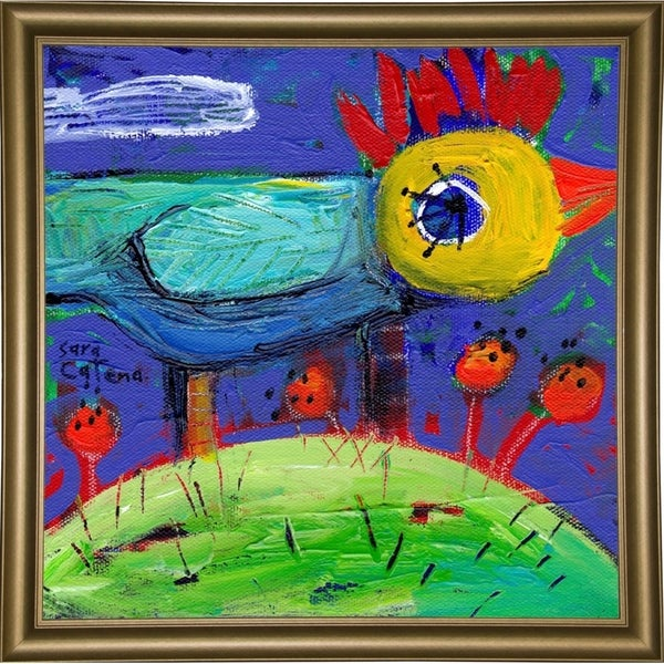 """Rosy's Meadow II-SARCAT104948 Print 15""""x15"""" by Sara Catena"""