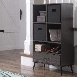 RiverRidge Storage Cabinet with Cubbies,Drawer, Optional 2 pc Black Bins