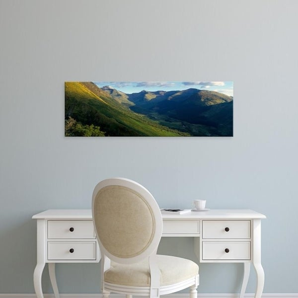 Easy Art Prints Panoramic Images's 'View Of Grass Covering Mountains, Stob Ban, Glen Nevis, Scotland, United Kingdom' Canvas Art