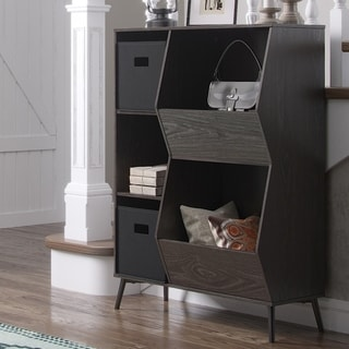 RiverRidge Storage Cabinet with Cubbies, Veggie Bins and Optional 2 pc Black Bins