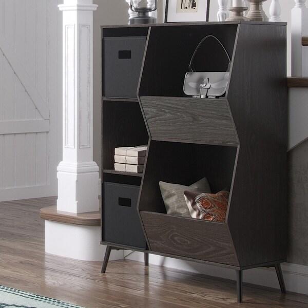 RiverRidge Storage Cabinet with Cubbies, Veggie Bins and Optional 2 pc Black Bins