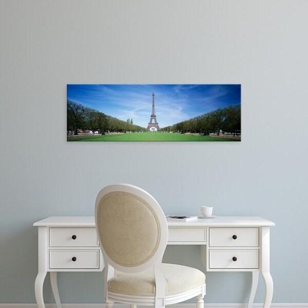 Easy Art Prints Panoramic Images's 'The Eiffel Tower Paris France' Premium Canvas Art