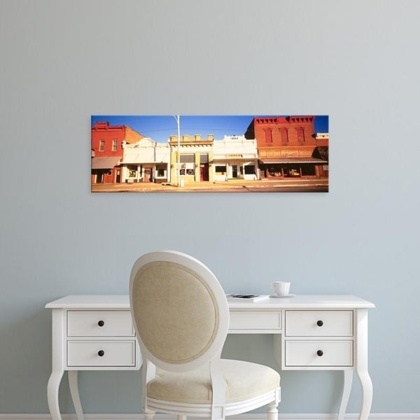 Easy Art Prints Panoramic Images's 'Store Fronts, Main Street, Small Town, Chatsworth, Illinois, USA' Premium Canvas Art