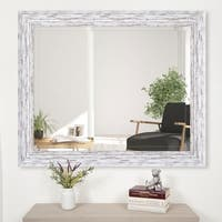 Gallery Solutions 24x30 Scoop Framed Beveled Wall Accent Mirror