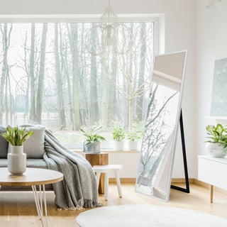 Gallery Solutions Framed Free-standing Floor Mirror with Easel