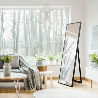 Gallery Solutions Framed Free Standing Floor Mirror With Easel