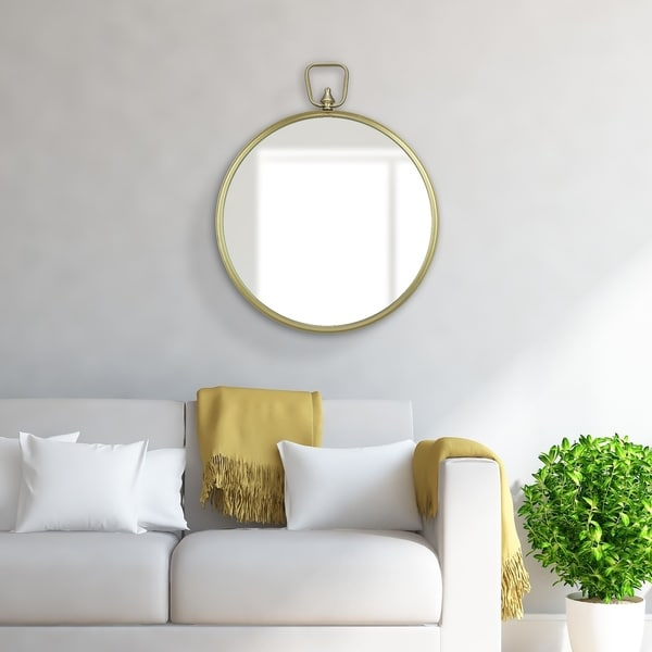 Shop Patton Wall Decor Gold Metal-framed Round Wall Mirror ...