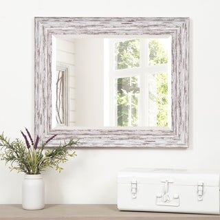 Gallery Solutions 16 x 20 Scoop Framed Beveled Wall Accent Mirror