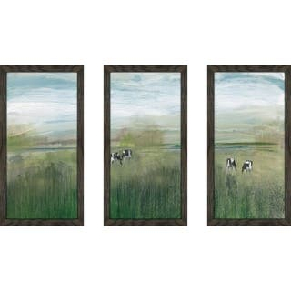 """Grazing In Shandelee"" by Susan Jill Print on Acrylic Set of 3 - Green"