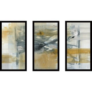 """Reflections I"" by Susan Jill Print on Acrylic Set of 3 - Yellow"