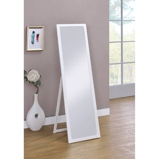 Cottage White Rectangle Stannding Wall Mirror 55 In. High