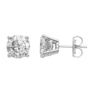 Versil Certified Lab Grown 1 1/2 Ct Round Diamond Stud Earrings, SI1/SI2 clarity, G H I color, in 14K White Gold